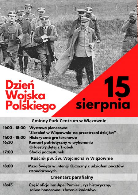 15 sierpnia - gminne obchody Święta Wojska Polskiego